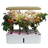 CRZJ Sistema de Cultivo hidropónico, Kit de jardín de Hierbas para Interiores, Kit de Inicio con luz de Crecimiento LED, Maceta hidropónica Inteligente para jardín doméstico, 12 Plantas