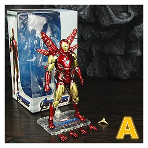 """Figura de acción Iron Man MK85 7""""Figura de acción Ironman Mark 85 Nano Armas Tony Stark Legends Toys Endgame Modelo Modelo (Color : A Boxed)"""