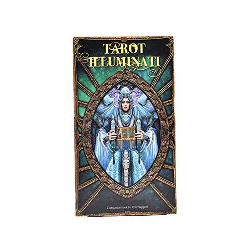 Tarot Illuminati Kit: Un Mazo De 78 Cartas Y Cartas De GuíA, Juego De Cartas De Juego Universal Futuro Divination Future, Amantes De Las Cartas del Tarot -10 * 7.5 * 2.5Cm