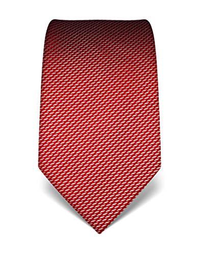 Vincenzo Boretti Corbata de hombre en seda pura, estampada rojo