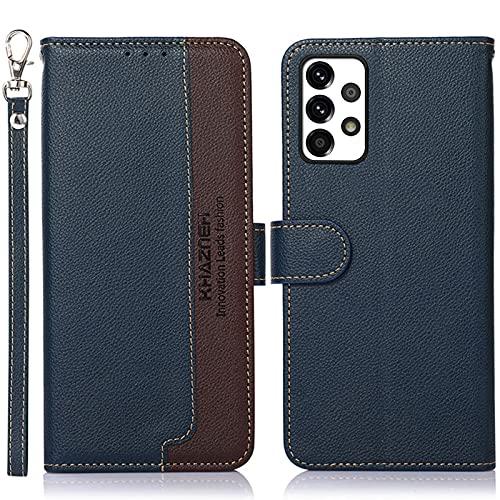 16Jessie Funda para Samsung Galaxy A52, funda de piel sintética con billetera, funda de silicona suave a prueba de golpes, funda de piel sintética plegable [protección RFID]
