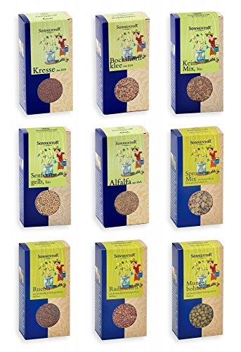 Sonnentor 5172 Keimsprossen Sortiment mit 9 Sorten (Bio-Keimsprossen)