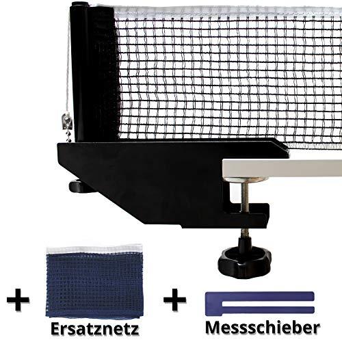 Fofoza TT Netzgarnitur Set - Profi Tischtennisnetz mit stabiler Metall Halterung, 2 Netzen &Messschieber | Universal Ping Pong Garnitur für alle gängigen Tischtennis Platten, Indoor & Outdoor