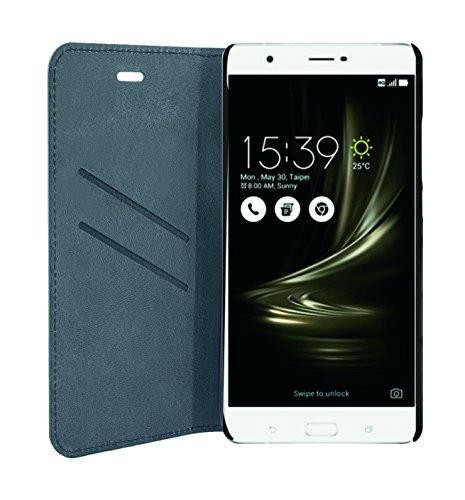 Phonix ASZ3UBCB Öko-Leder Buch-Hülle für Asus Zenfone 3 Ultra 17,3 cm (6,8 Zoll) (ZU680KL) schwarz