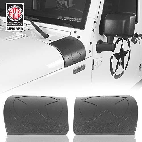 Hooke Road JK Cowl Body Armor Side Corner Guard Cover Compatible with Jeep JK & Wrangler Unlimited JK 2007-2018 - Five Star