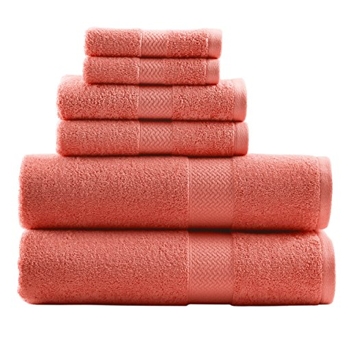 Tommy Bahama Cypress 6-Piece Towel Set, Deep Coral