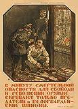 La Unión Soviética ruso Propaganda sólo traidores y guardia espias ocultaré Playwell c1919 250gsm polarmk tarjeta...