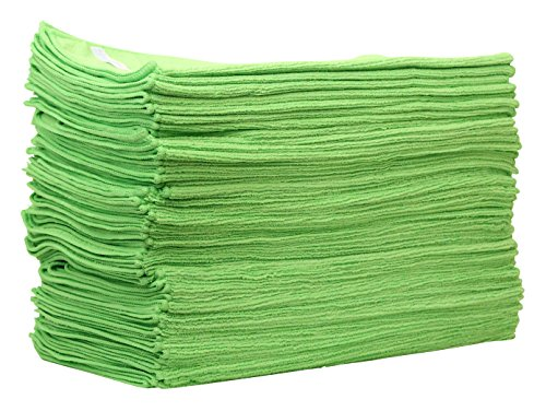 CLEA actionpro Ducts Micro Allround Chiffon Vert 40 x 40 cm (Lot de 50) – Chiffon microfibre pour la préparation des voiture véhicule Traitement