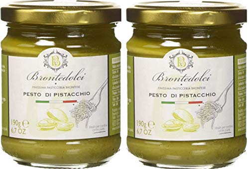 2 tarros de pistacho pesto, exquisita preparación para el 55% de los pistachos, Sicilia - 2x190g