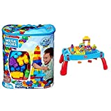 First Builders Big Building Bag AND Mega Bloks First Builders Build 'n Learn Table [Amazon Exclusive]