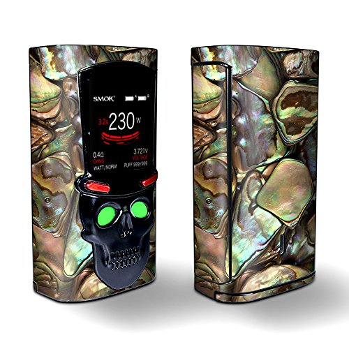 Skin Decal Vinyl Wrap for Smok S-Priv 225w Vape stickers skins cover/Gold Abalone Shell Large