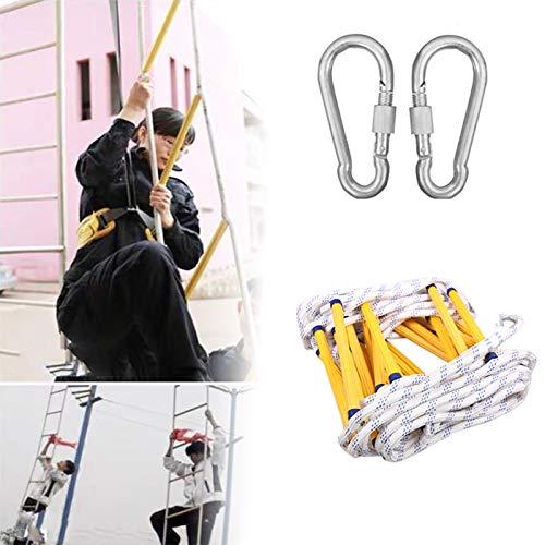 Escalera de la cuerda de escape de incendio, escalera de seguridad de la cuerda de seguridad de la escalera de incendios de emergencia con la escalera de escape de la cuerda de la escalera de incendio