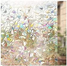 Home Decor 3D No Glue Static Window Sticker Home Decorative Films Glass Window Film anti UV 40 X 90 CM Removable