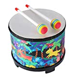 Floor Tom Drum for Kids 8 inch Montessori Percussion Instrument Music Drum Toys...