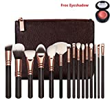 V smile Pinceaux de maquillage 15pcs Professional Rose Set de luxe d'or Marque Make...