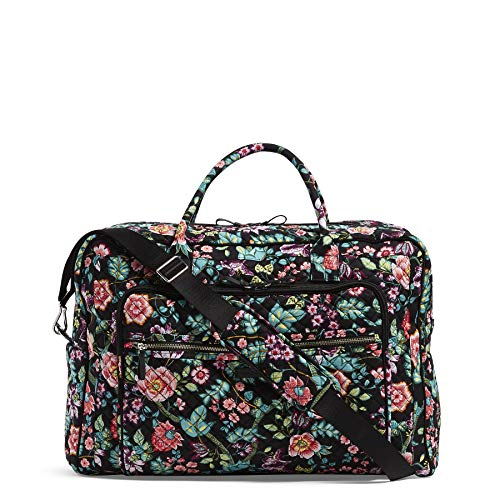 Vera Bradley Women's Iconic Signature Cotton Grand Weekender Travel Bag, Vines Floral, One Size