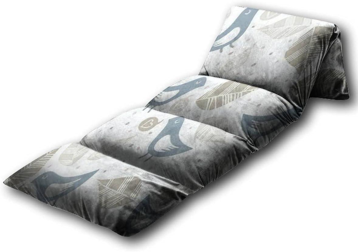 Kids Floor Pillow Little Blue Love with Bargain sale Birds Doodles Max 61% OFF Talk