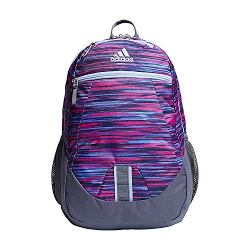 adidas Unisex Foundation Backpack, Shock Pink Sunset/Glow Blue/Onix, ONE SIZE