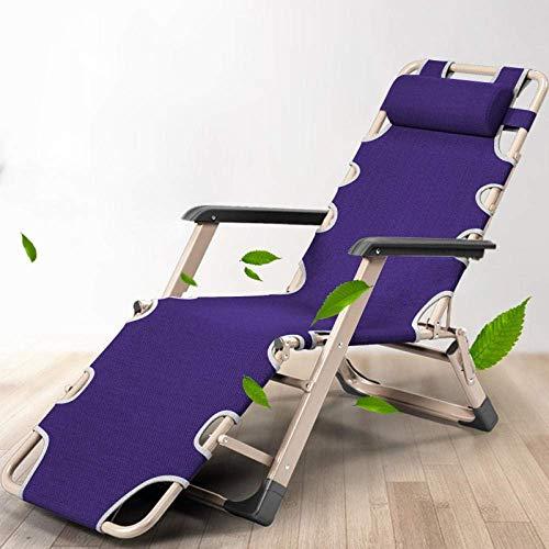Taburete Tumbona Plegable para jardín, tumbonas, sillones reclinables para Exteriores Plegables, con una Carga máxima de 150 kg, Azul Marino