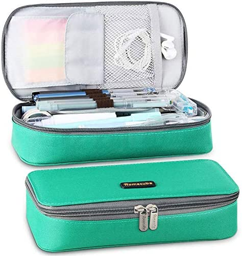 Homecube Big Capacity Pencil Pen Case Large Storage Bag Pouch Holder Box Desk Organizer with Zipper Stationery School...