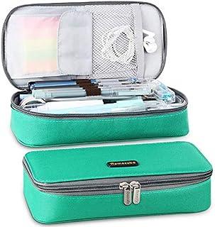 Homecube Mäppchen, große Kapazität Federmäppchen Stifthalter Praktische Studenten Schreibwaren mit zwei Reißverschlüssen L...