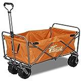 FIELDOOR ワイルドマルチキャリー 【タフロング】 折りたたみ式多用途キャリーカート オレンジ 耐荷重150kg アウトドア キャンプ レジャー