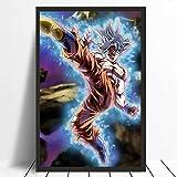 fdgdfgd Classic Dragon Ball Super Instinct Goku Anime japonés Manga Pop Poster Art Canvas Modern Room Mural Decoration