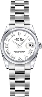 Lady Datejust 179160 White Roman Numeral Dial 26mm Womens Watch