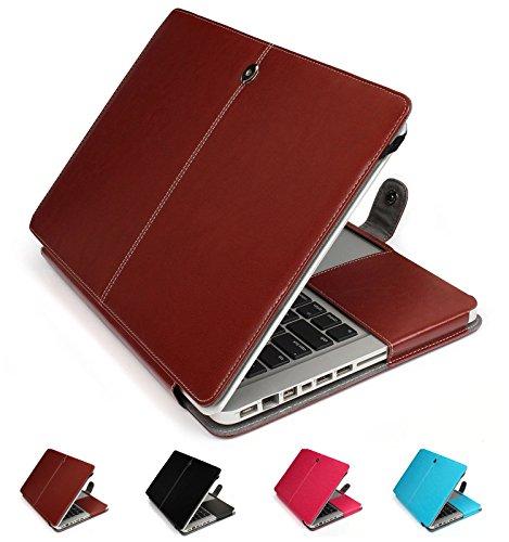 GranVela MacBook PU Custodia in Pelle, Copertura di Caso per Apple 13', 13.3' inch MacBook PRO - Marrone