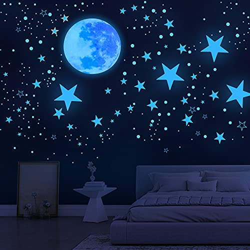 Glow in The Dark Stars for Ceiling,1078 Pcs,Star Decorations for Bedroom,Kids Boys Girls Room...