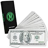 Money Printer Fake Money, Prop Money, Play Money for Kids, 100 Dollar Bills Realistic Movie Money, Motion Picture Props, Paper Money, Pretend Play Cash, Pack of 100 Bills in Gift Box