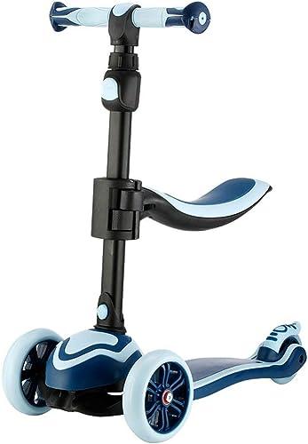 WYX-Trike Trougetinette 3-en-1 avec Siège Amovible Idéale pour Les Enfants Et Les Filles, Filles Ou Garçons - Hauteur Ajustable avec Roues De Clignotant en PU,a