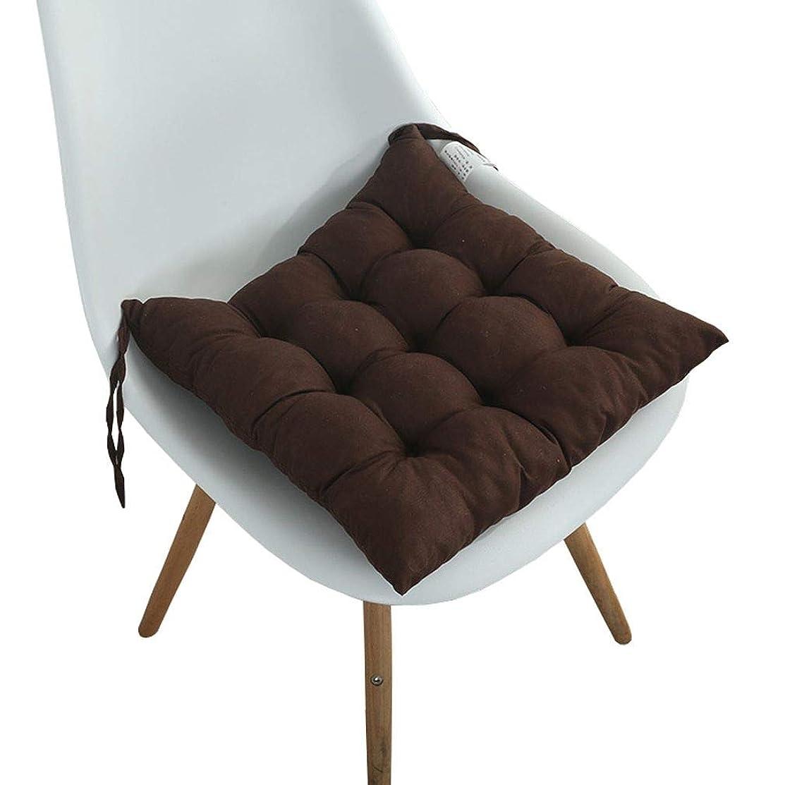 ロッジテレビを見る振幅JK Home 座布団 クッション 無地 オシャレ 低反発 椅子 体圧分散 ふかふか 柔らかい ブラウン