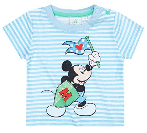 Tee shirt manches courtes bébé garçon Mickey Rayé blanc/bleu de 3 à 23mois (6 mois)