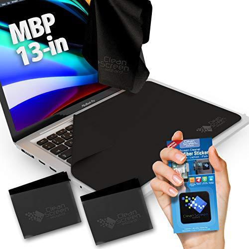 CLEAN SCREEN WIZARD Microfibra MacBook PRO 13 pulitore/Protezione della Tastiera Sottile, Tastiera trackpad, Panni touchpad coperchi (4pack Fascio)