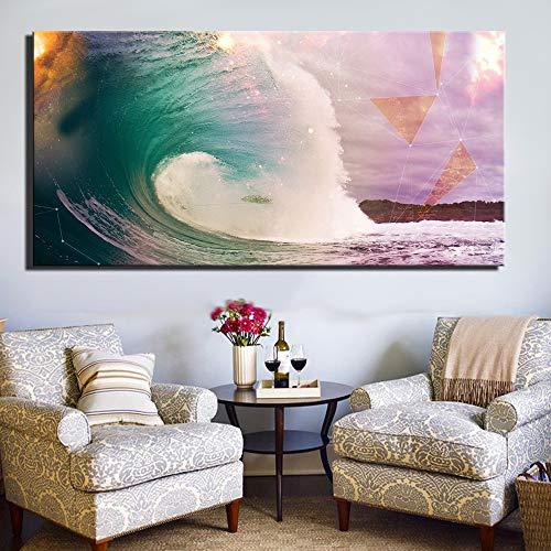 Zutaten Kunst in Tisch Leinwand Malerei Küchenthema Wanddekoration Lebensmittelkonzept Retro Leinwand Kunstdruck (ohne Rahmen) A2 60x120CM