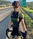 Vestito da Donna Triathlon Set Jersey in Bicicletta Tuta Manica Corta Skinsuit