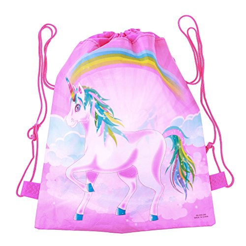 SuxiDi 3D Print Unicorn Drawstring Backpack Rucksack Shoulder Bags Gym Bag