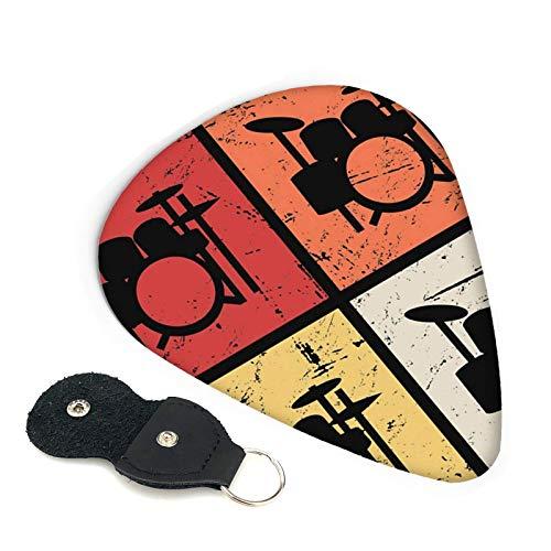 Plectrums Para Guitarra Kits De Batería Retro Vintage Ukelele Resistente Plumillas De Guitarra Colores Surtidos Plectrums Para Guitarra Por Regalo Perfecto Bajo Guitarra Acústica 6Pcs