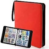 Sovinia - Libreta archivadora para tarjetas (720 tarjetas), color rojo