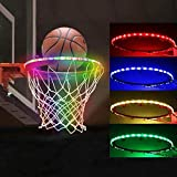 Picobee LED Basketball Hoop Lights, Basketball Rim Lights Strips Waterproof, Super Bright Strip Lights with 13 Light Modes Glow-in-The-Dark, Ideal for Playing Training Party Games at Night Outdoors