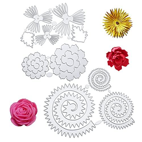 3 piezas troqueles plantilla de perforación conjunto de flores troqueles de corte flores de plantas forestales flor estampado en relieve para scrapbooking álbum de fotos tarjetas de papel decoración
