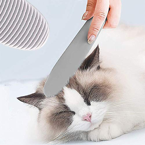 Katzenbürste Kamm Fellpflege Katze Zunge Bürste Katzenkamm,Massagebürste Massagekamm für Haustier Katzen,Katzenkämme Haustierbürste Langhaar Kurzhaar Haustierkamm mit Massage Funktion Zunge Form Grau