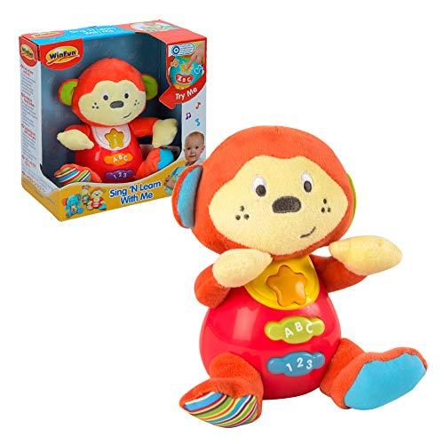Winfun - Peluche Mono bebés habla luces colores