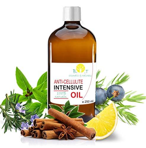 Aceite anticelulítico (250 ml) Triple acción: drenante, quemagrasas y reafirmante. Con aceites esenciales. Penetra 6 veces mejor que una crema anti celulitis