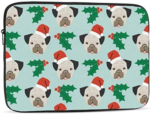 Christmas Pug Dog Laptop Sleeve Bag - Evecase 15″ Neoprene Universal Sleeve Zipper Sleeve Cover Case for Notebook
