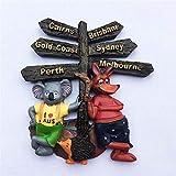 TDCTshop Simpatico Cartello Stradale Australia Q in kangala Koala, Resina 3D, Magnete per Frigorifero, Fatto a Mano, Souvenir di Viaggio, Forniture per la Cucina di casa, Decorazione Artigianale.
