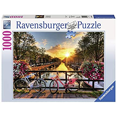 Ravensburger Bicycles in Amsterdam 1000 Piece Jigsaw Puzzle for Adults – Every Piece is Unique, Softclick Technology Means Pieces Fit Together Perfectly