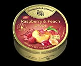 Cavendish & Harvey Drops Himbeere und Pfirsich Bonbons Raspberry & Peach Drops 175g in Metalldose