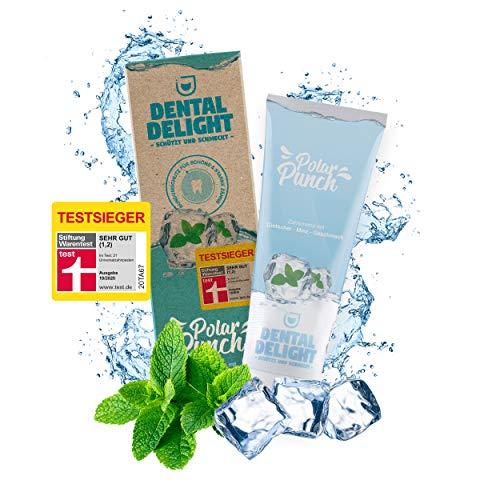 TESTSIEGER (Note 1,2 SEHR GUT) | Polar Punch Minze-Gletscher Geschmack von DENTAL DELIGHT | vegan klimaneutral ohne Mikroplastik